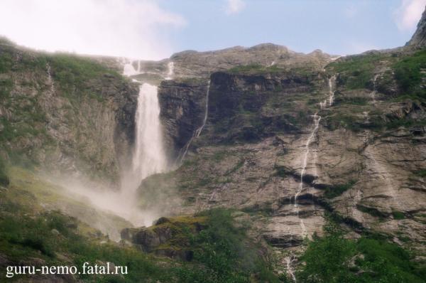 Водопады с ледника