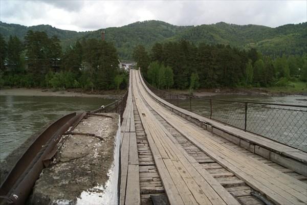 Старый мост через Катунь