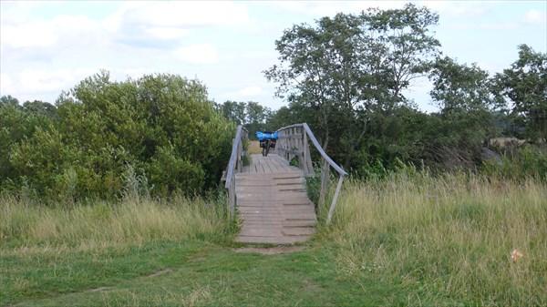 Новый мост через реку Устье в Селищах