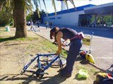 Сборка велосипедов в аэропорте Тиват