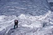 Ледник. Валера на привале