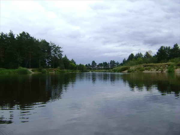 Река в начале маршрута