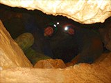 Паша с Юлей из окна грота Помпадур