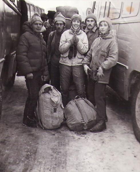 Старт на автовокзале г. Куйбышев.