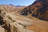 Долина Тундук-сая, старые постройки на дне