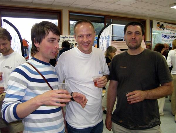 Дима знакомится с немецкими спелеологами