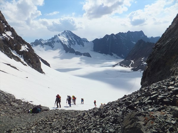Подъем на перевал Алтын-Тор-Ашу
