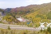 Вид с плотины Медо.