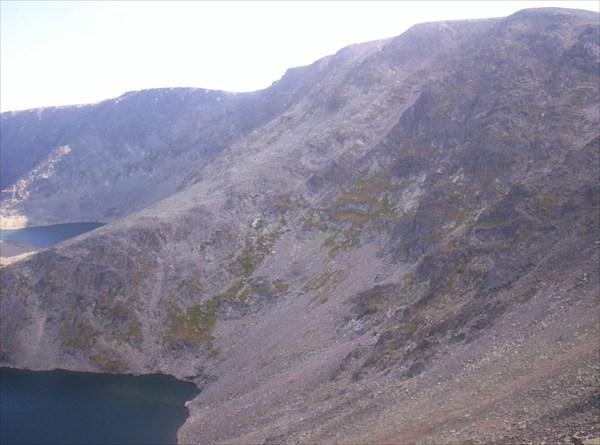 Четвертое и пятое озера, место для спуска