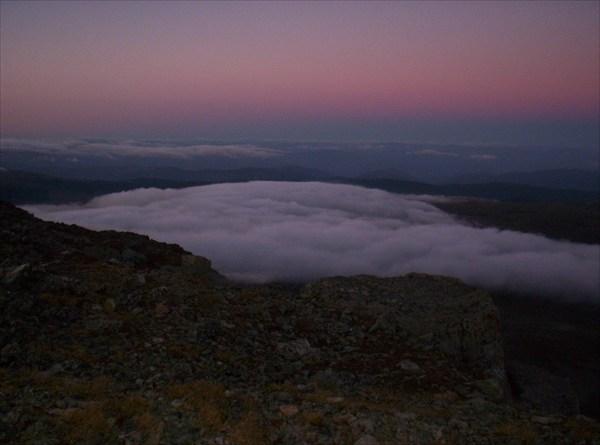 Закат на Сарлыке. Взгляд на восток