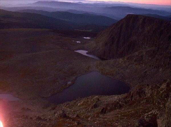 Пятое, шестое и прочие Туюкские озера на рассвете