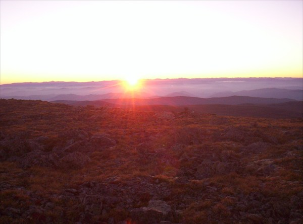 Восход на Сарлыке