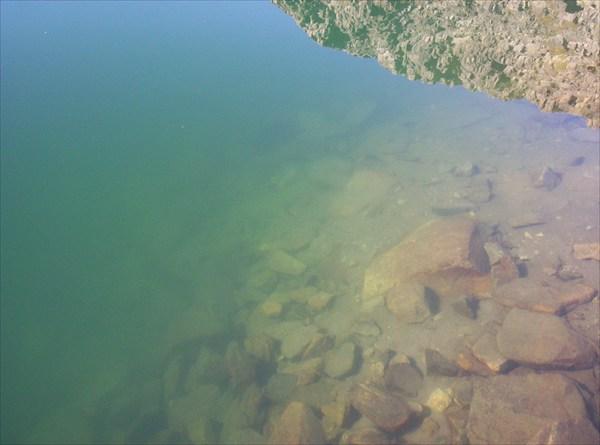 Пятое Туюкское озеро. Есть и глубокие места