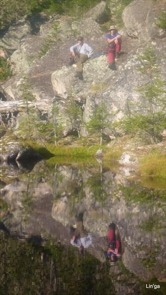 Озеро при подъеме на хр. Метугул-Тайга,в цирк. пика Туманный