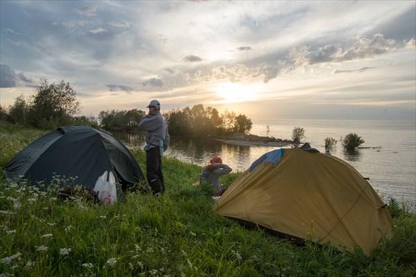 Закат над Белым озером