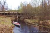 Место стапеля у моста на р. Добрица