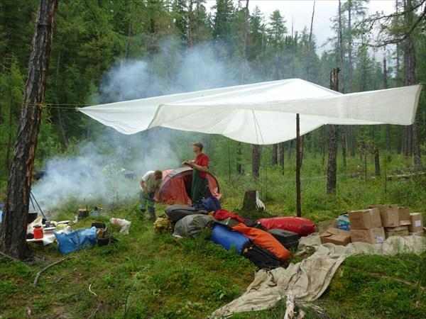 Лагерь на берегу Большой Мурхой
