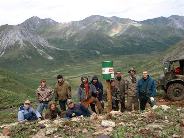 Команда в полном составе на пер. Мустаг-Дабан