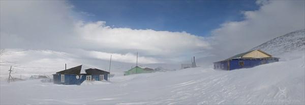 Пурга на базе Желанная. Фото Андрея Подкорытова.