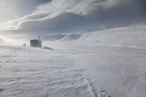 Пурга, база Желанная. Фото Андрея Подкорытова.