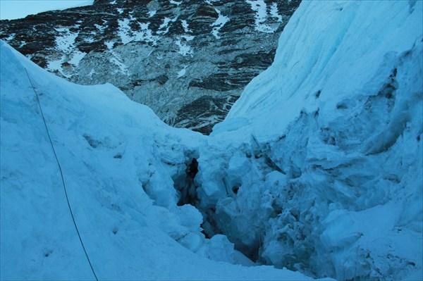 Трещины на леднике и наши перила
