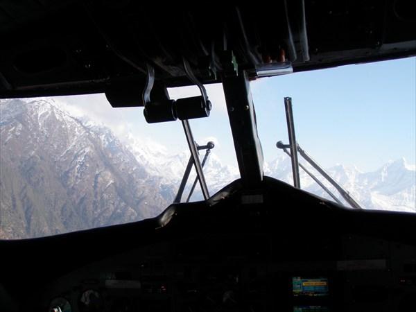 Вид из кабины во время полета