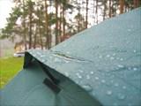 Роса на палатке