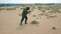 На окраине Чарских песков.