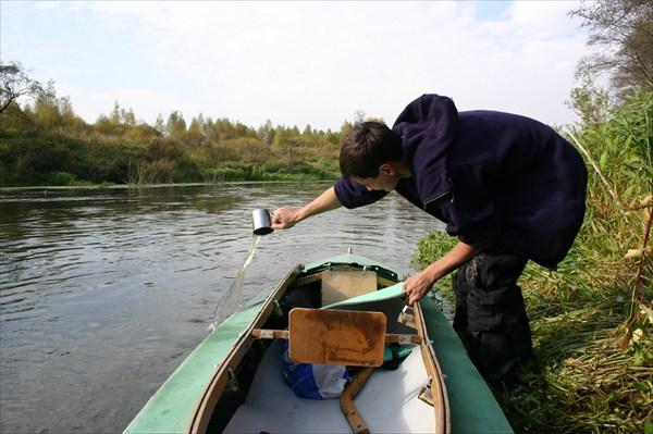 Сплав по реке Дубне. Осень 2005.