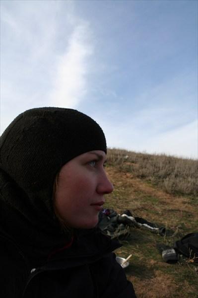 Катя Суржикова в шлеме