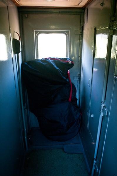Транспортировка велосипеда из Казани в Москву в сидячем вагоне.