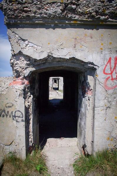 Остатки 3 батареи Либавской крепости
