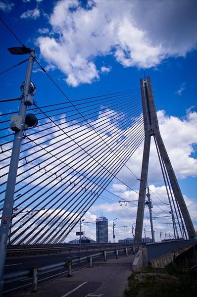 Рижский вантовый мост. Одна из моих причин посетить Ригу.