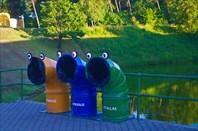Веселые клайпедские мусорные баки