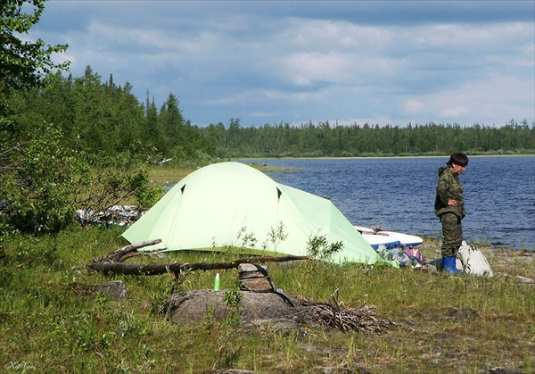 Последняя ночевка на реке Войкар