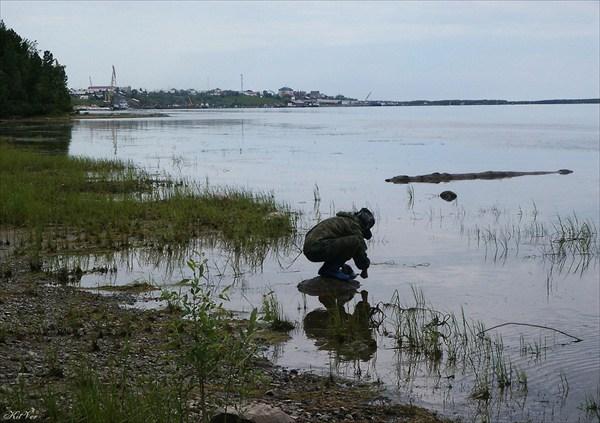 На реке Малая Обь у пос. Мужи