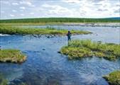 Переход через правый приток реки Бурхойла
