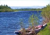 Река Танью. Встречный ветер мешает нам плыть
