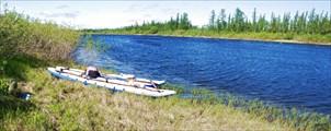Река Танью. Пережидание встречного ветра