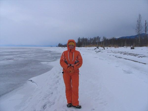 На берегу Байкала.
