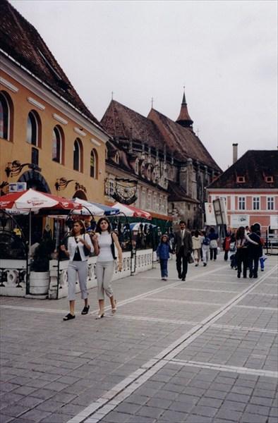 Улица типа Арбата в Брашове