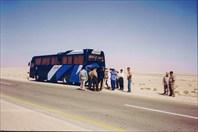 Наш автобус сломался на пути к оазису
