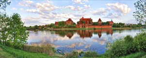 Мальборк. Вид на замок Тевтонского ордена.