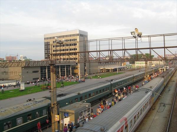 Поезда на станци Тюмень