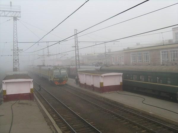 Раннее утро на станци Пермь-2