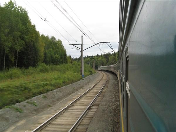 Поезд идет к Уралу. Пермский край.