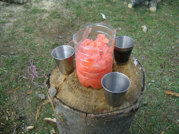 Ягель с имбирным соусом.