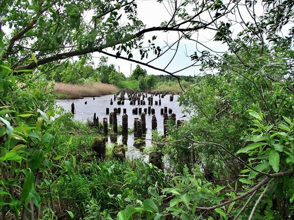 Разрушенный мост в п.Мыт