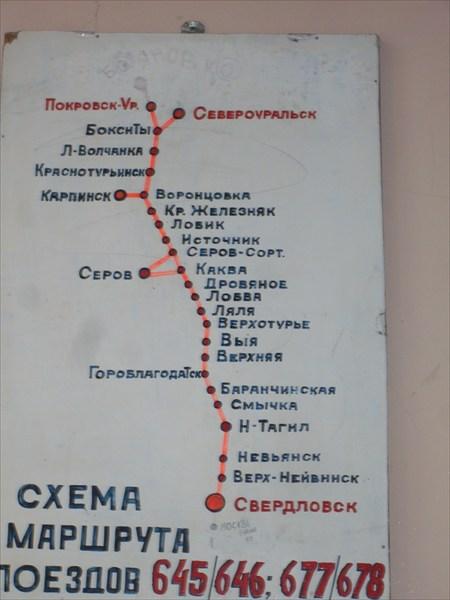 Жд маршрут