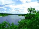 Река Томь в районе Козанково